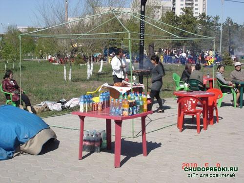 шашлыки в парке
