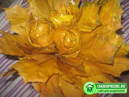 Мастер класс. Розы из листьев