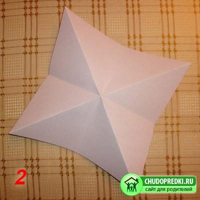 Оригами для детей. Оригами - тюльпан