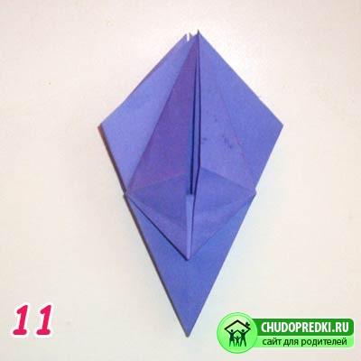 Оригами цветов. Цветок ириса