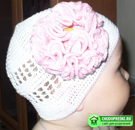 летняя шапочка для девочки