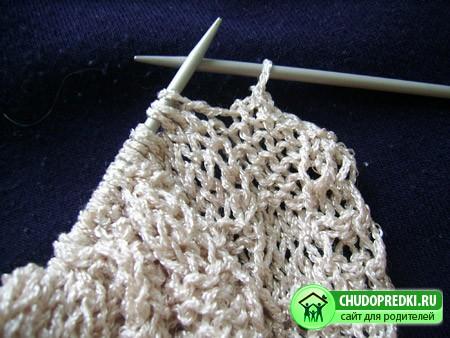 Вязание на спицах безрукавки