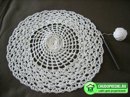 Вязание салфеток крючком