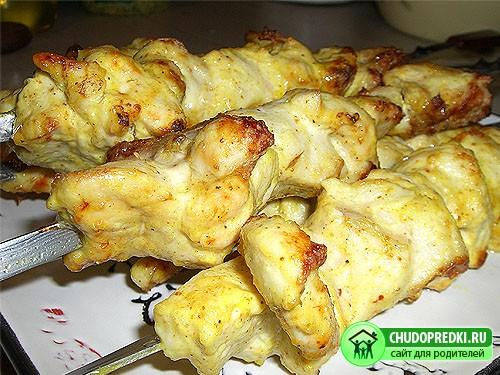 Шашлык из курицы. Рецепт приготовления