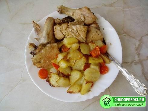 Курица с картошкой. Рецепт приготовления