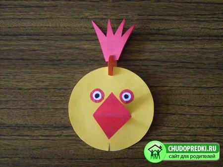 Поделки из картона цыпленок