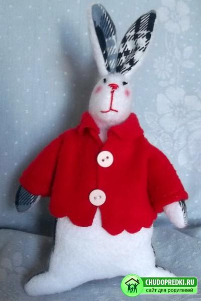 Кукла Тильда. Толстый кролик
