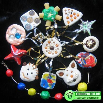 Плоские игрушки на елку своими руками