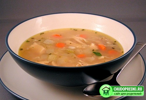 Суп из курицы с рисом