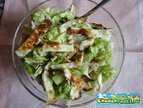 Салат с омлетом рецепт с фото