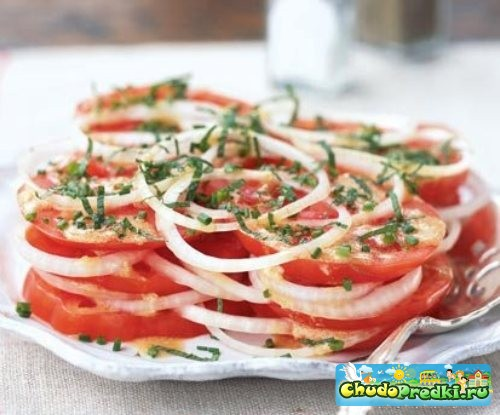 салат из помидоров рецепты с фото