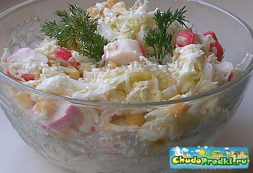 салат из крабов и ананасов рецепт