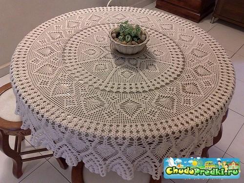 Вязание скатерти для вашего стола