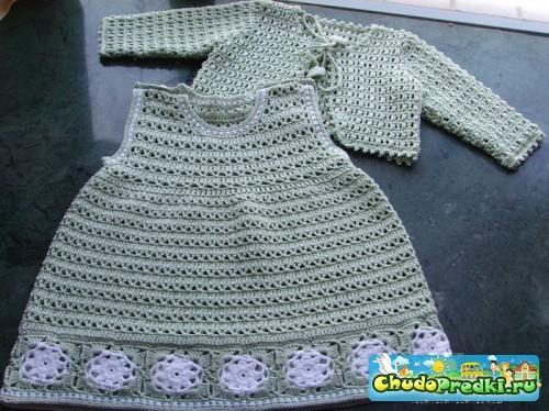 Вязание платья малышей