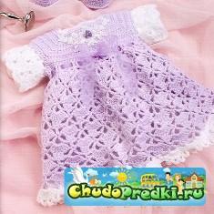Вязание платьев для малышей