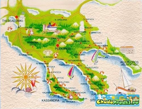 Греция. Полуострова Халкидики
