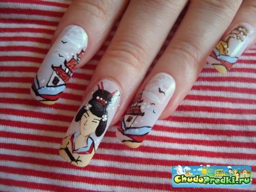 маникюр рисунки на ногтях фото