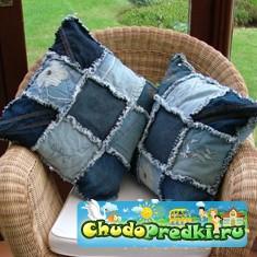 Поделки из джинсов для украшения интерьера