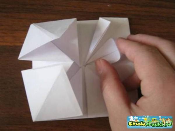 Оригами. Объемная открытка для мамы. Мастер класс с пошаговыми фото