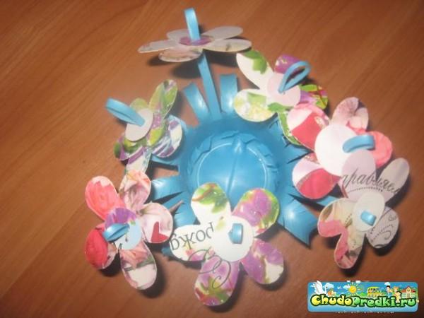 Детские поделки. Цветочная подставка для карандашей. Мастер класс с пошаговыми фото