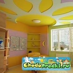 Как оформить потолок в детской комнате?