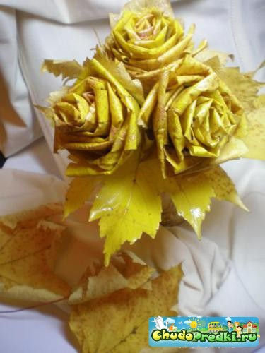 Осенний букет из листьев