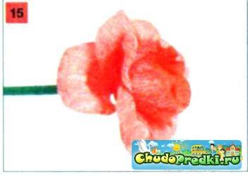 цветы из гофрированной бумаги. Розы. Мастер класс с пошаговым фото