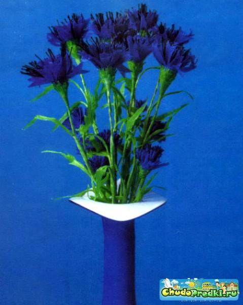 Цветы из гофрированной мастер класс с пошаговым 16