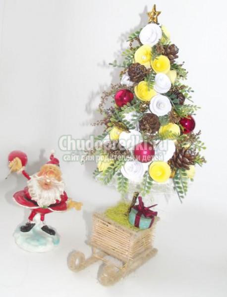 новогодняя ёлка на саночках