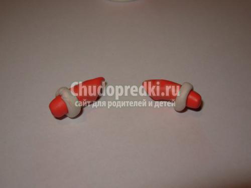 поделки из пластилина дед Мороз