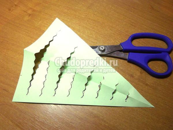 зимние поделки елочка из бумаги