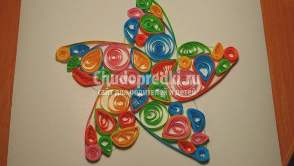 квиллинг рождественская звезда