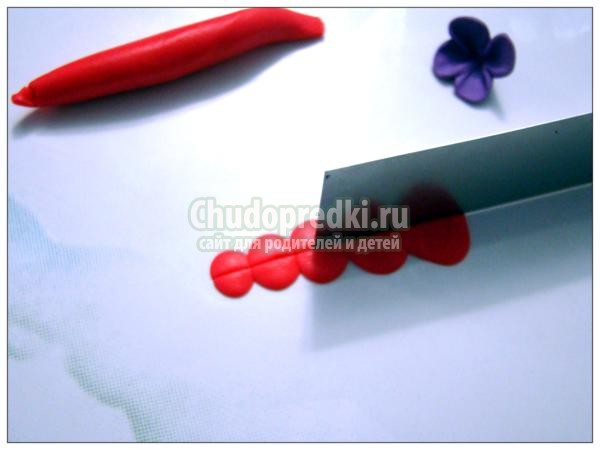 поделки из полимерной глины. Зеркальце