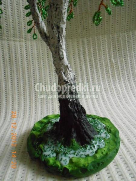 бисероплетение деревьев. Береза