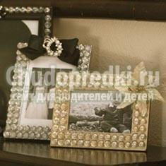 Декорируем деревянные рамки для фото