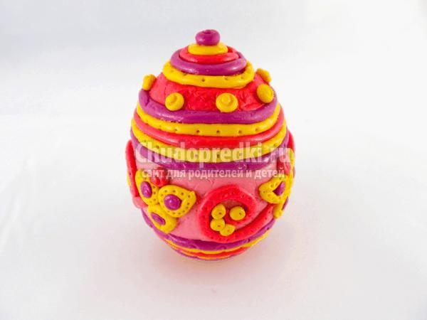 пасхальное яйцо из полимерной глины