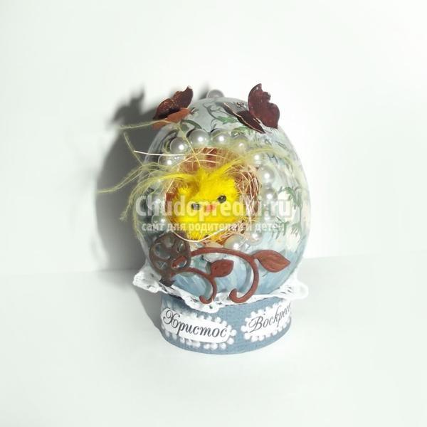 скрапбукинг. пасхальное яйцо-гнездышко