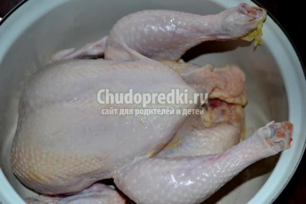 запеченная в рукаве курица