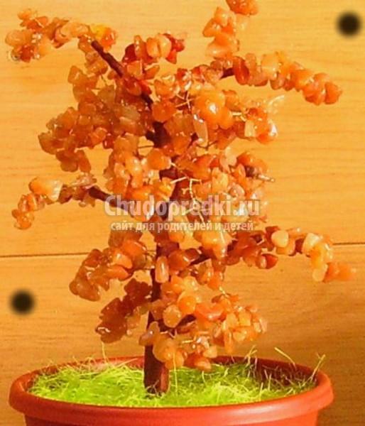 дерево счастья из сердолика мастер класс с пошаговыми фото
