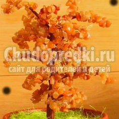 дерево счастья из сердолика