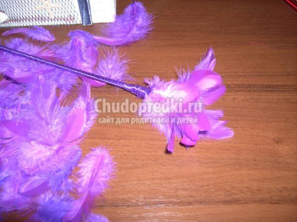 волшебные палочки из перьев и шпажек