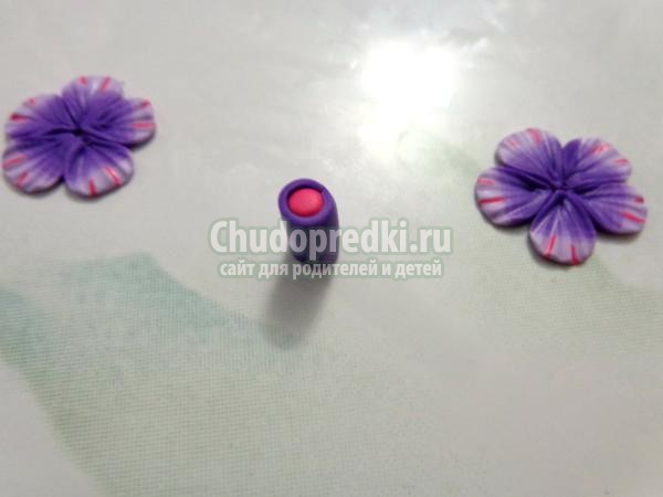 серьги-пуссеты из полимерной глины