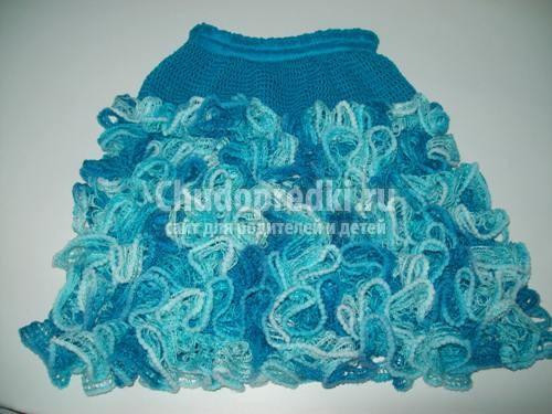 Фото вязаные юбки для девочек