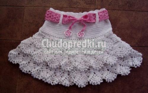 Вязание крючком для девочек летняя юбка