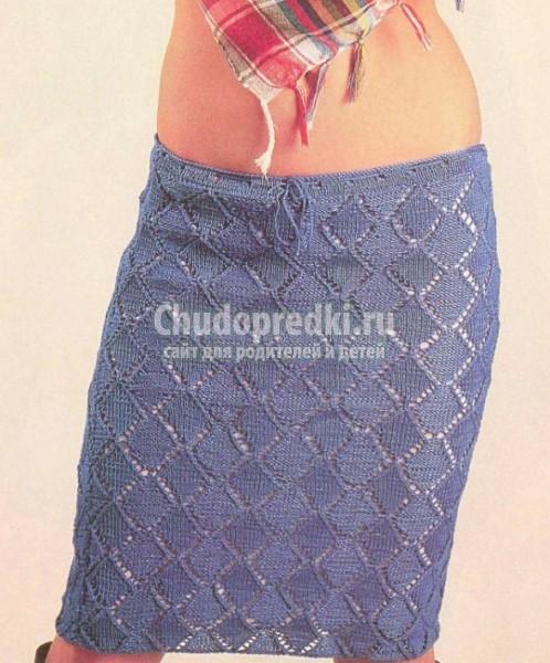 Летние вязаные юбки со схемами