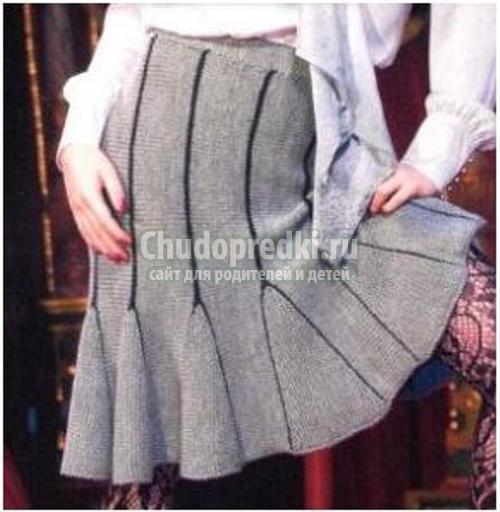 Вязание школьной юбки