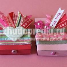 Оригинальная валентинка - коробочка