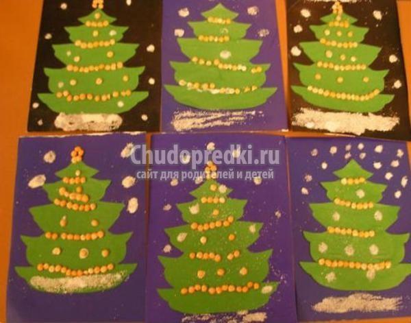 новогодние поделки для детей в детском саду