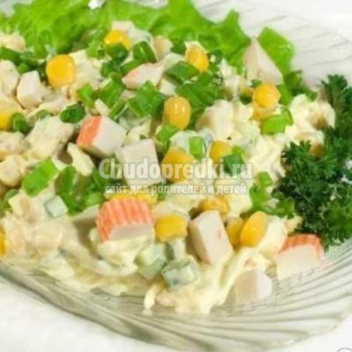 Крабовый салат рецепт