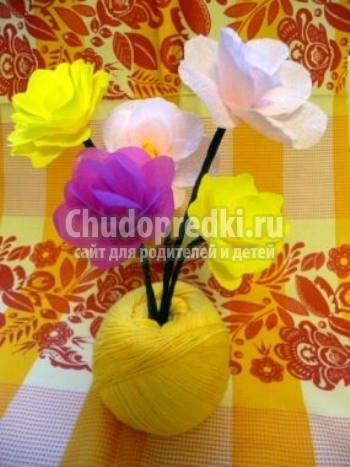 Цветы своими руками мастер класс